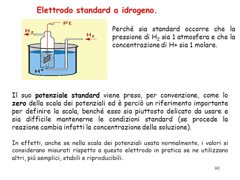 Elettrodo standard a idrogeno.