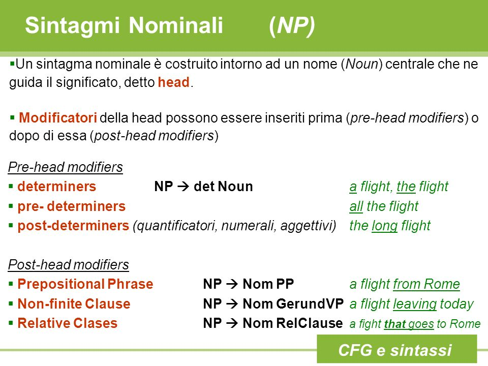 Sintagmi Nominali (NP)