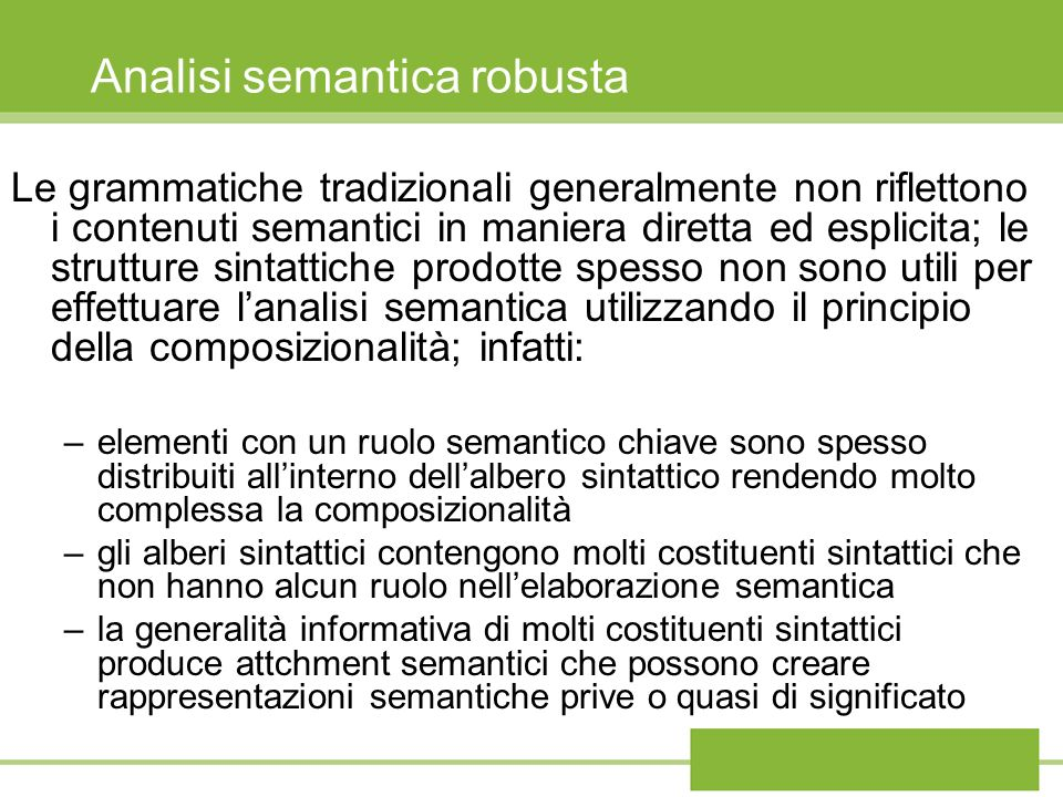 Analisi semantica robusta