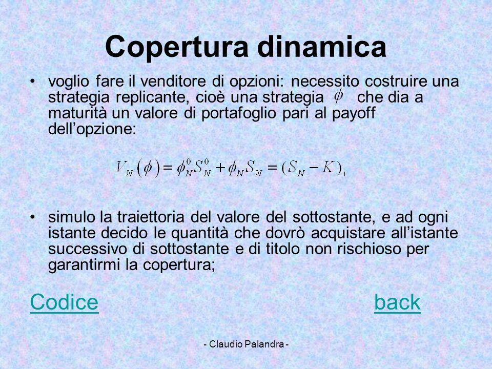 Copertura dinamica Codice back