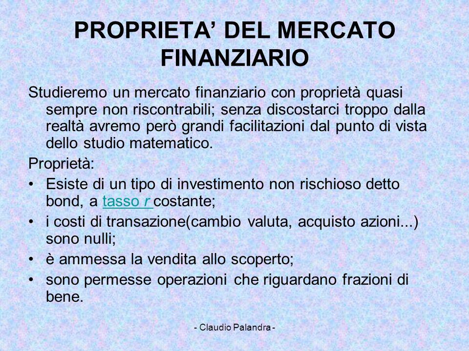 PROPRIETA' DEL MERCATO FINANZIARIO