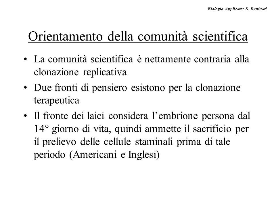 Orientamento della comunità scientifica