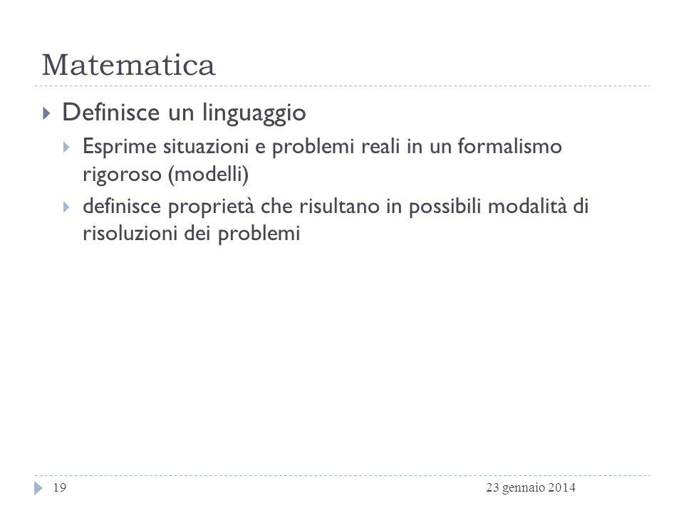Matematica Definisce un linguaggio