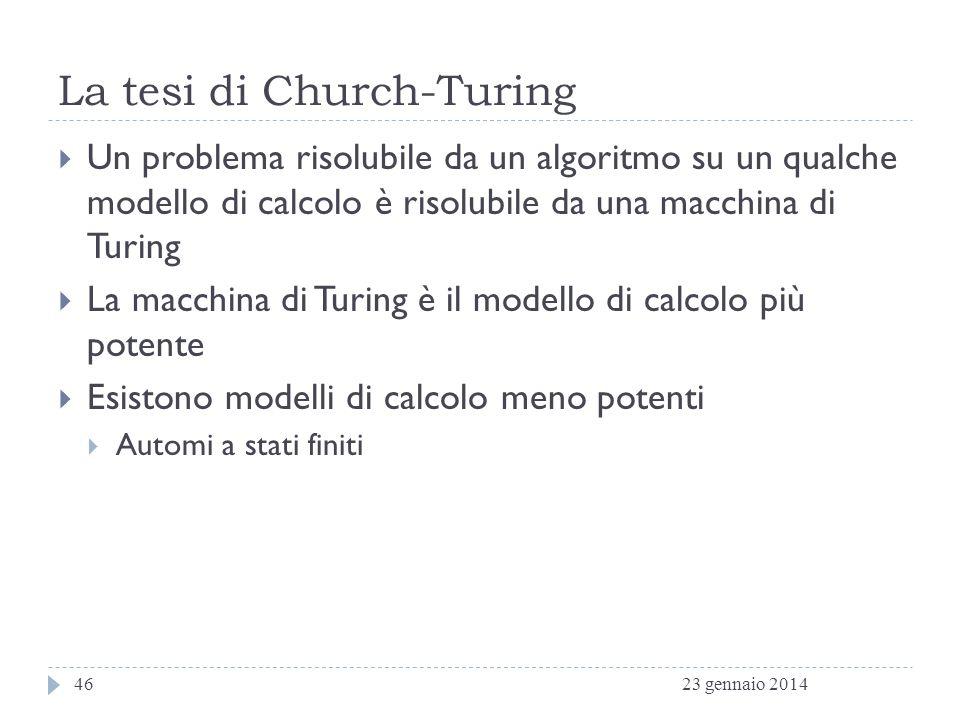 La tesi di Church-Turing
