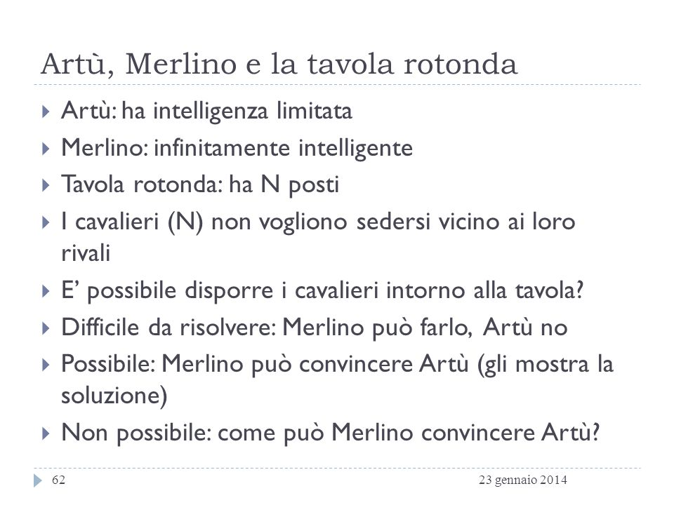 Artù, Merlino e la tavola rotonda