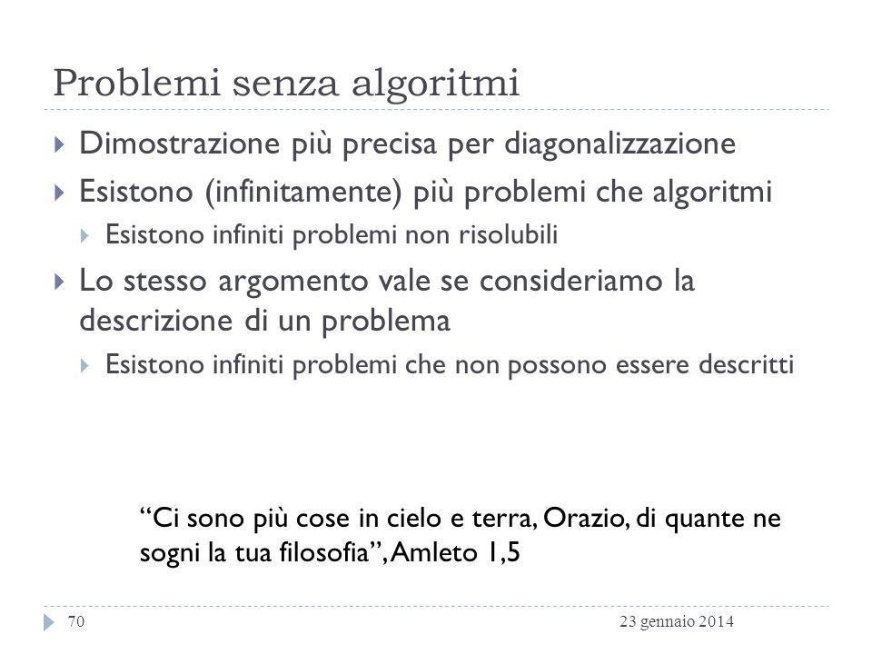 Problemi senza algoritmi