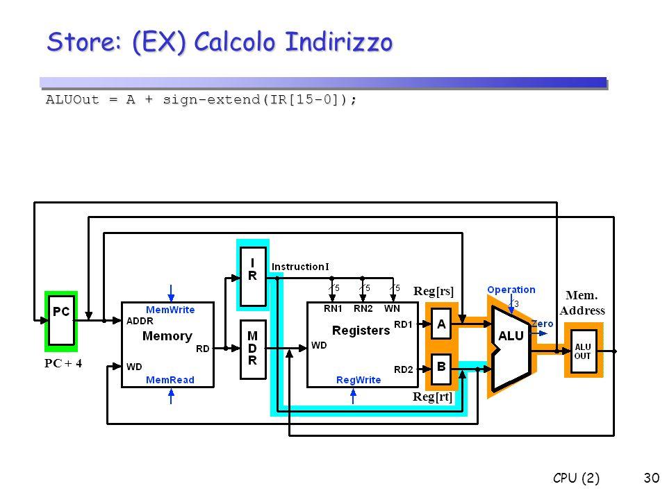 Store: (EX) Calcolo Indirizzo