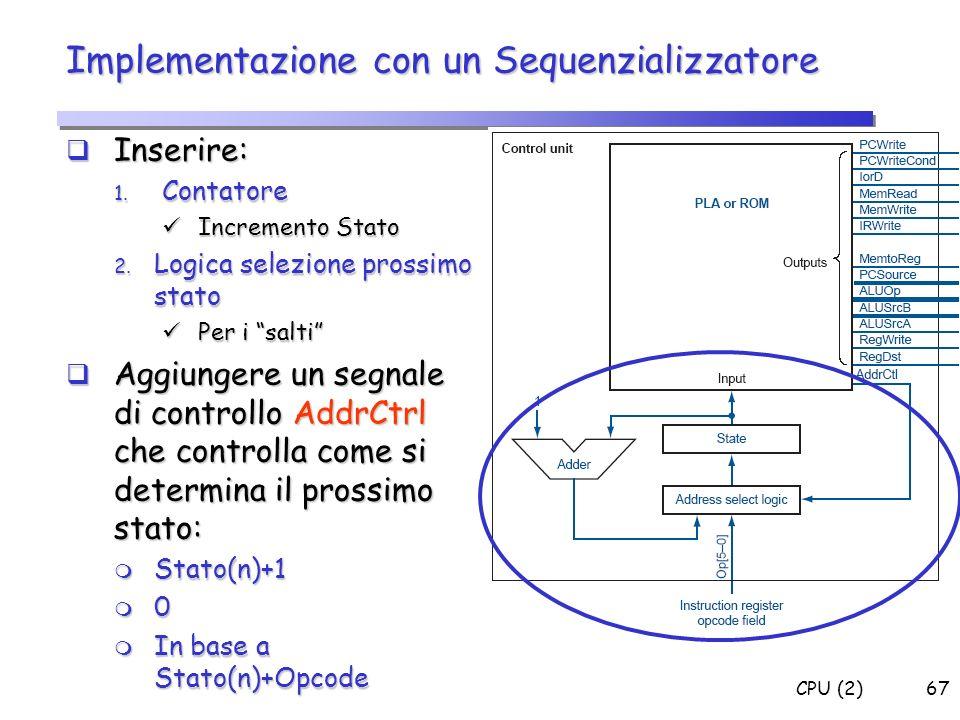 Implementazione con un Sequenzializzatore
