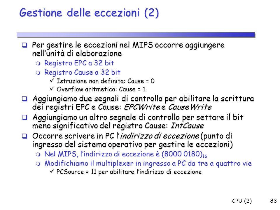 Gestione delle eccezioni (2)