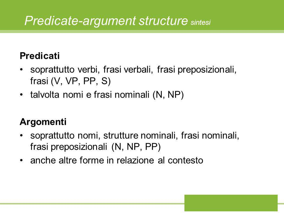 Predicate-argument structure sintesi