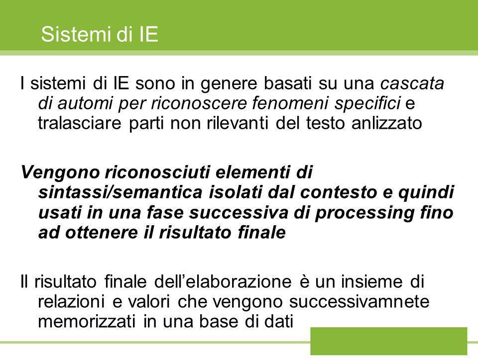 Sistemi di IE