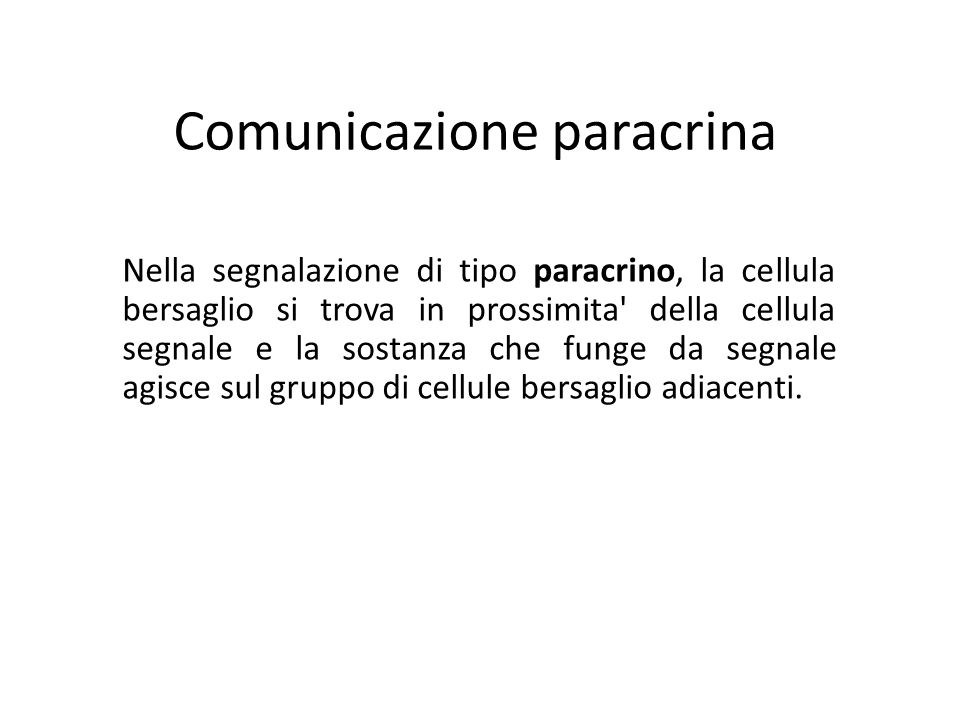 Comunicazione paracrina