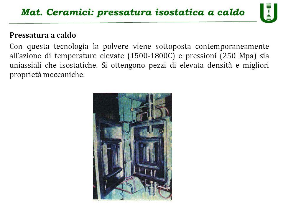 Mat. Ceramici: pressatura isostatica a caldo