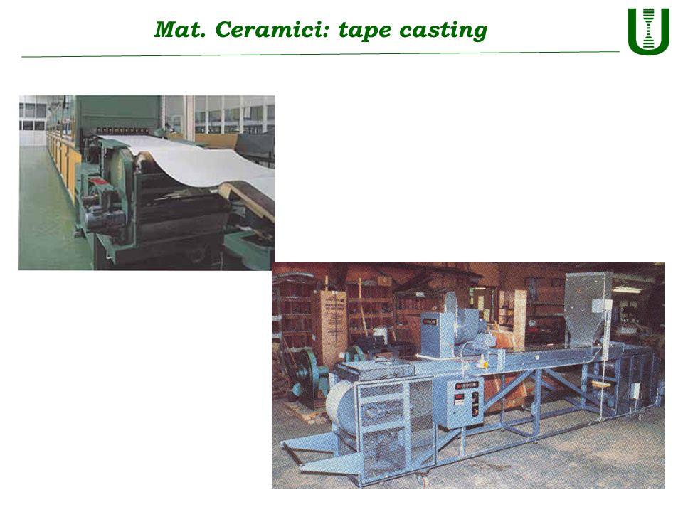 Mat. Ceramici: tape casting