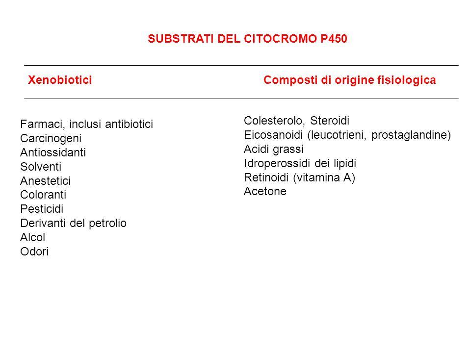 SUBSTRATI DEL CITOCROMO P450