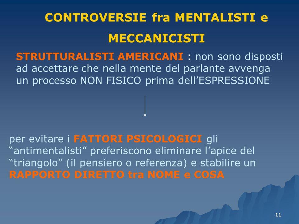 CONTROVERSIE fra MENTALISTI e