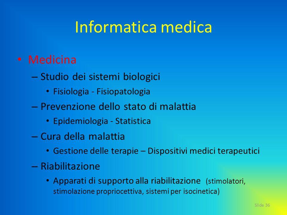 Informatica medica Medicina Studio dei sistemi biologici