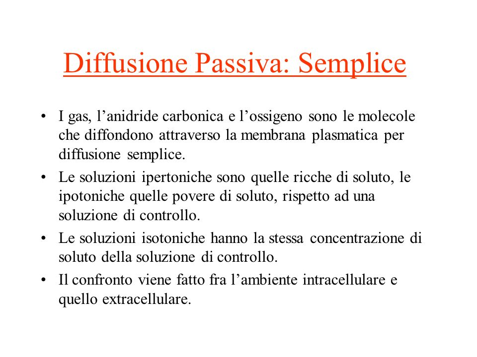Diffusione Passiva: Semplice