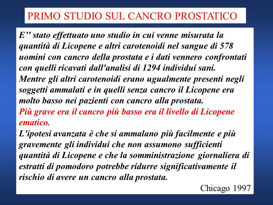 PRIMO STUDIO SUL CANCRO PROSTATICO