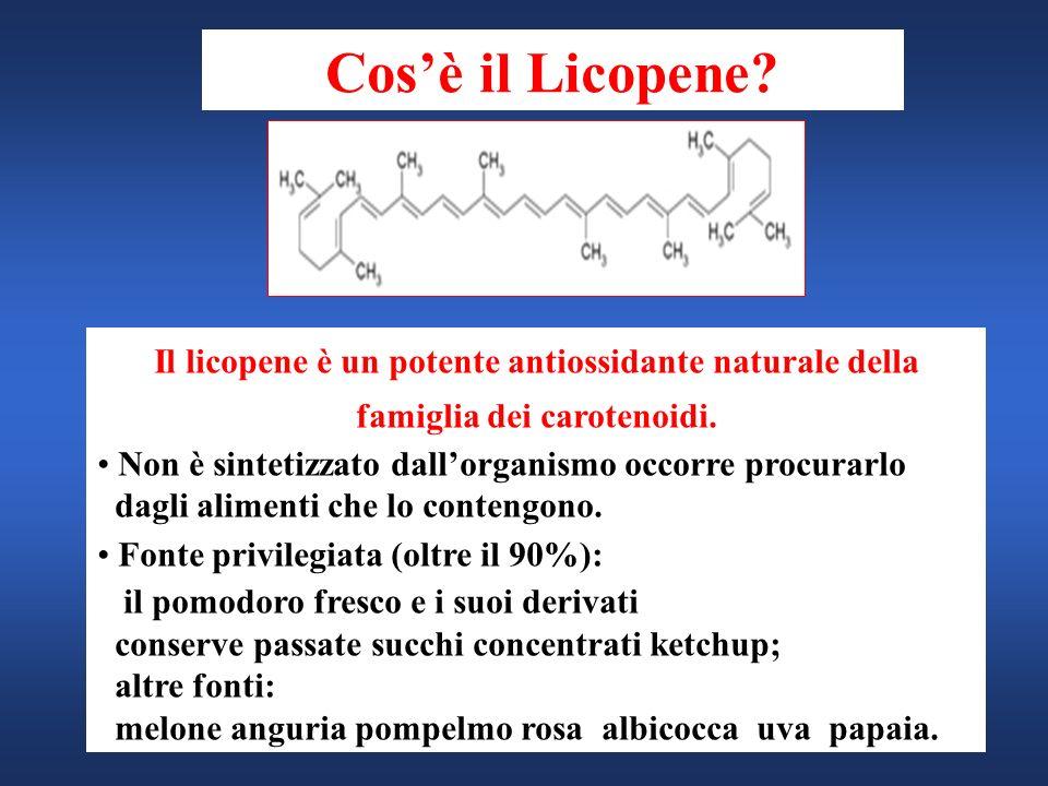 Cos'è il Licopene Il licopene è un potente antiossidante naturale della famiglia dei carotenoidi.