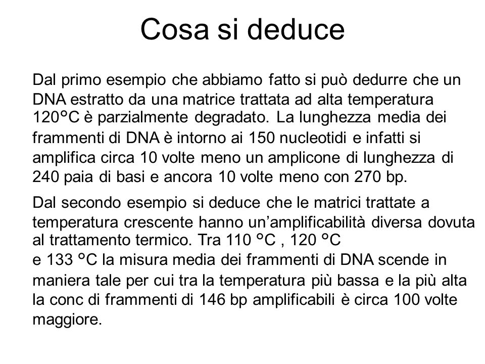 Cosa si deduce