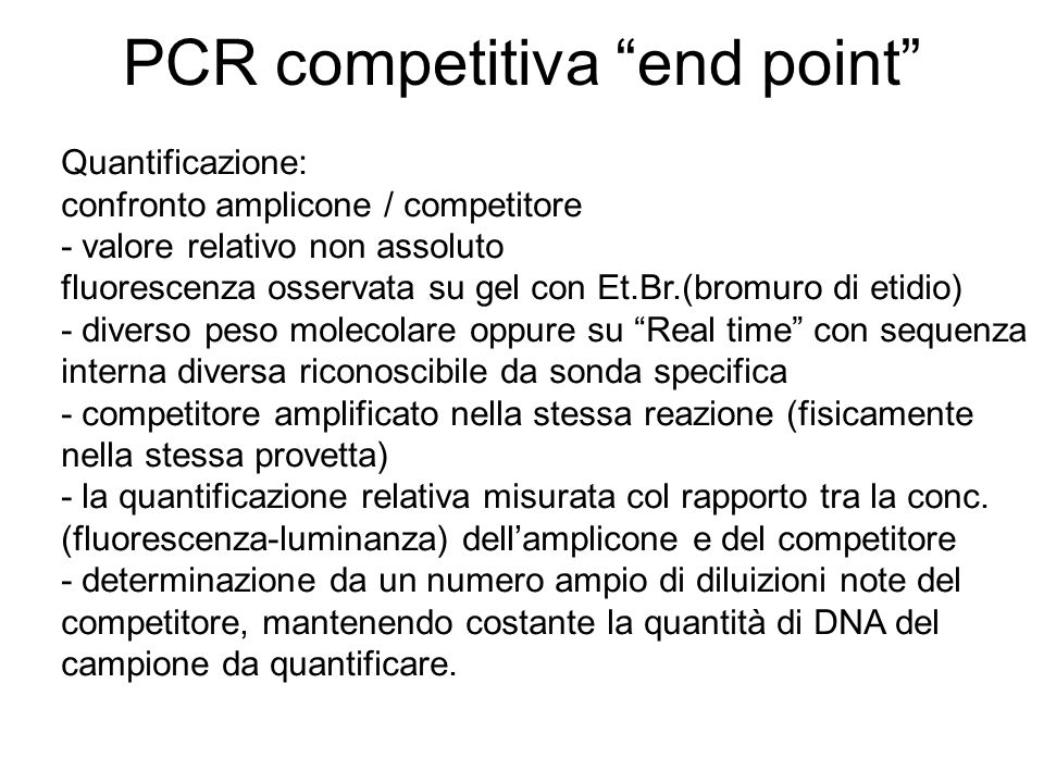 PCR competitiva end point