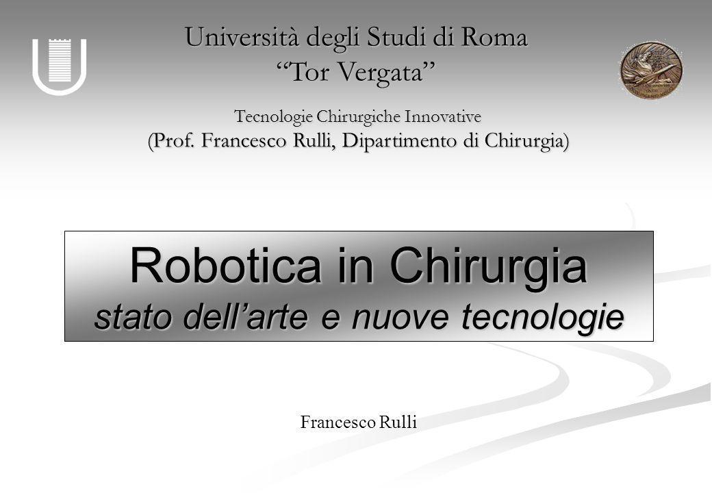 Robotica in Chirurgia stato dell'arte e nuove tecnologie