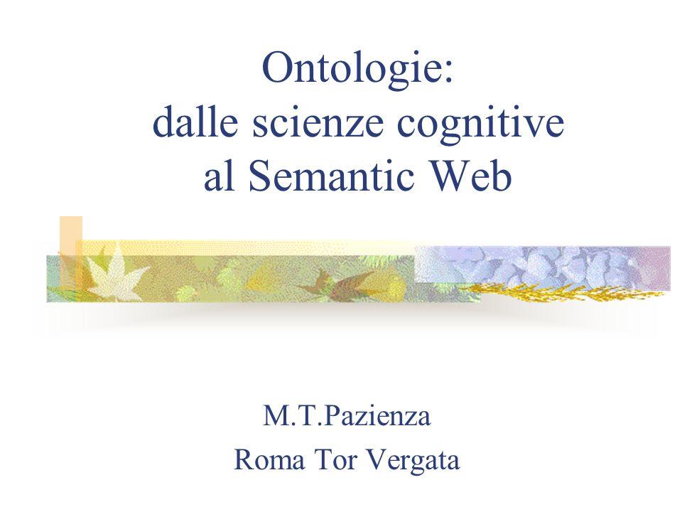 Ontologie: dalle scienze cognitive al Semantic Web