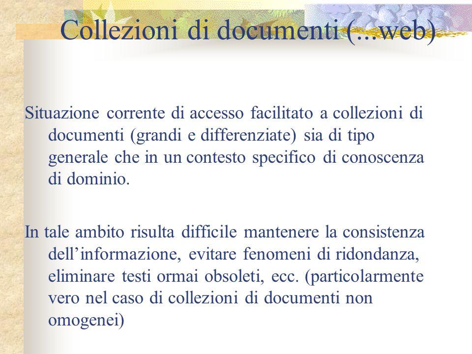 Collezioni di documenti (...web)