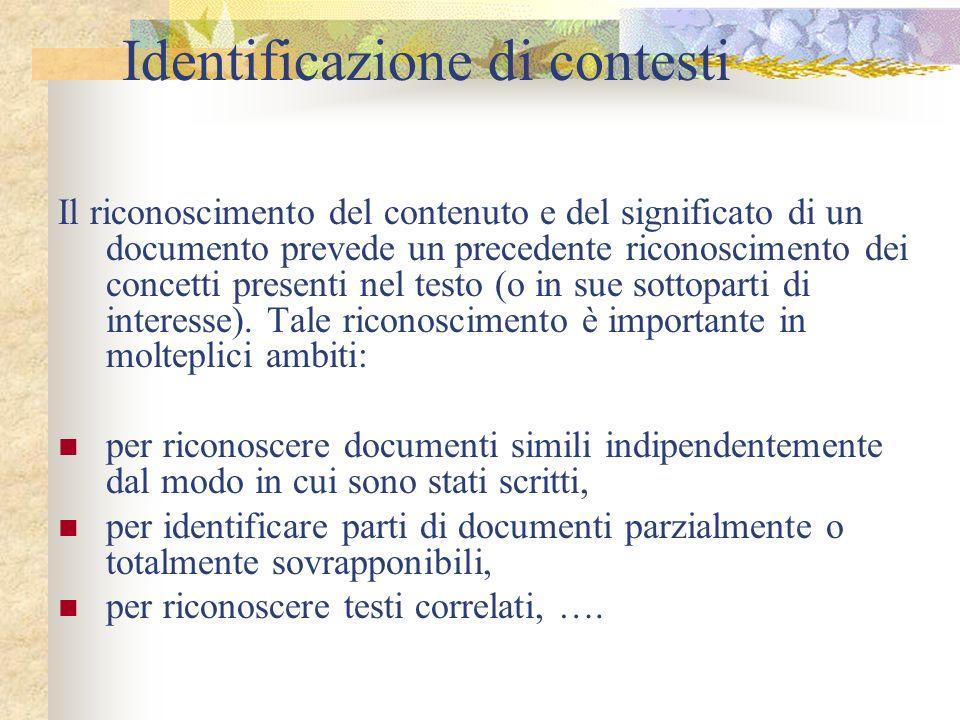 Identificazione di contesti