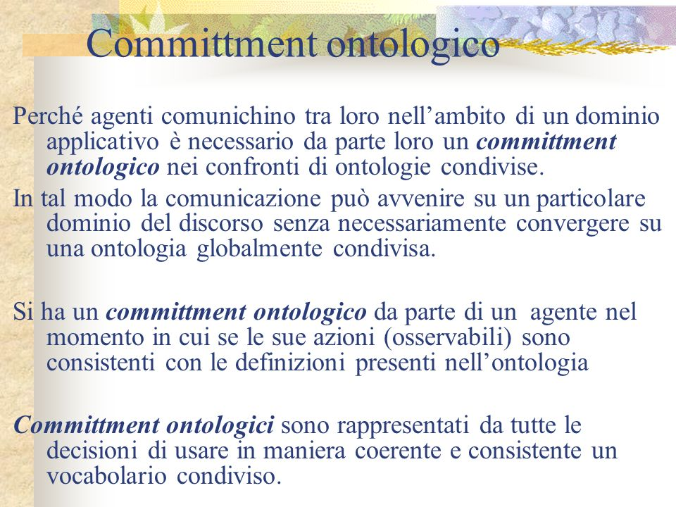 Committment ontologico