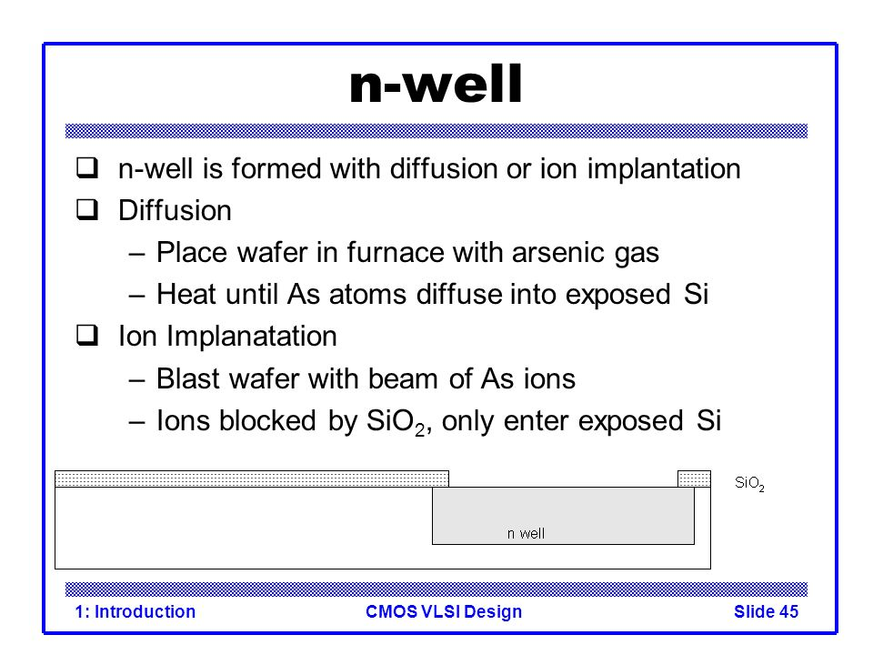 n-well n-well is formed with diffusion or ion implantation Diffusion