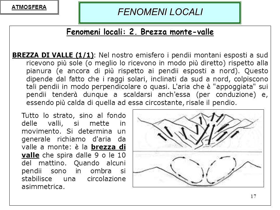 Fenomeni locali: 2. Brezza monte-valle