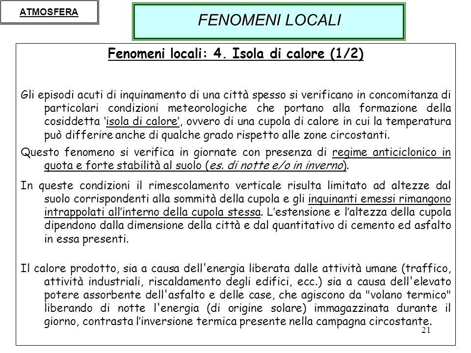 Fenomeni locali: 4. Isola di calore (1/2)