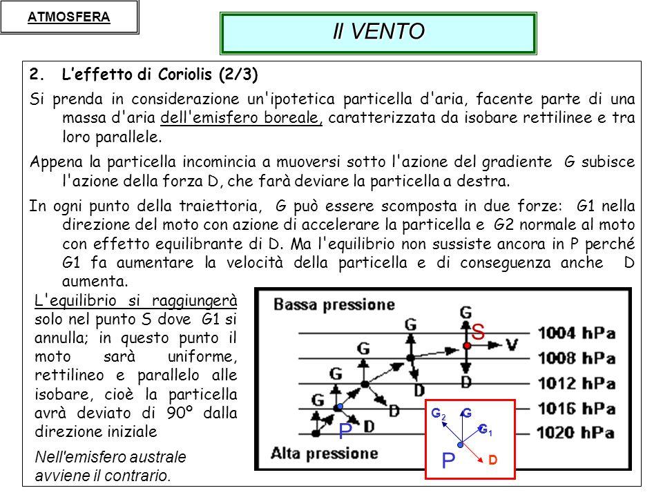 Il VENTO S P P L'effetto di Coriolis (2/3)