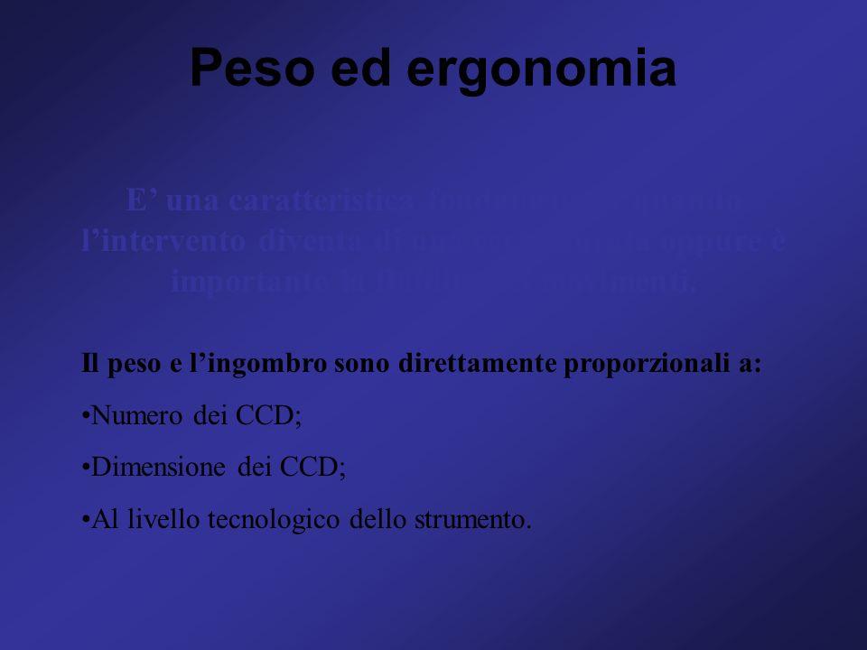 Peso ed ergonomia E' una caratteristica fondamentale quando l'intervento diventa di una certa durata oppure è importante la fluidità dei movimenti.