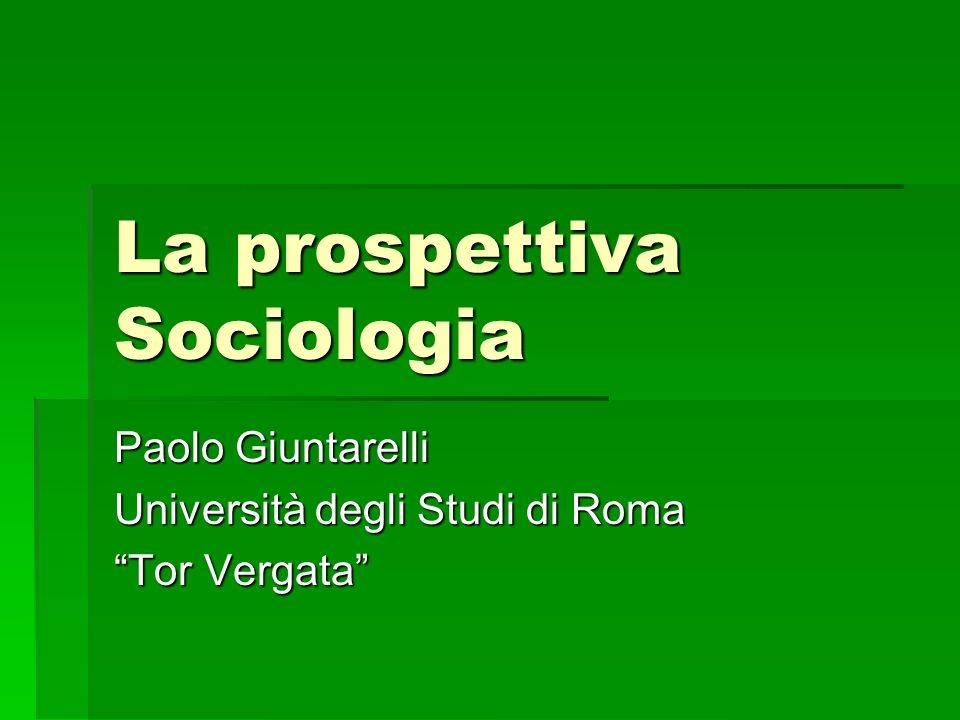 La prospettiva Sociologia