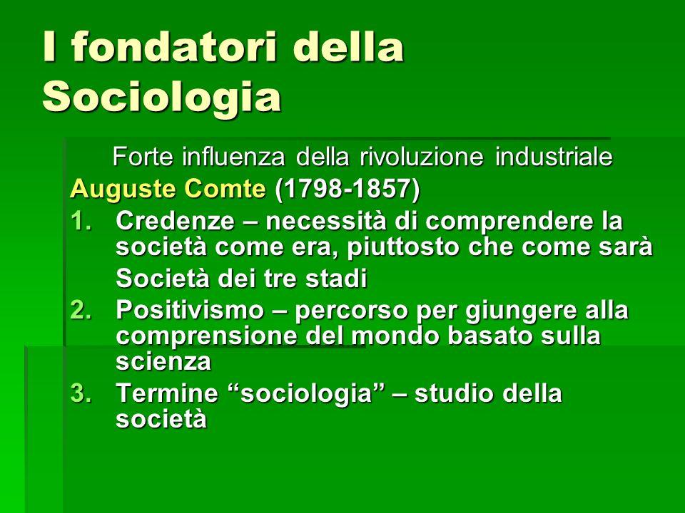 I fondatori della Sociologia
