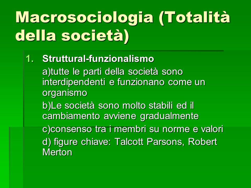 Macrosociologia (Totalità della società)
