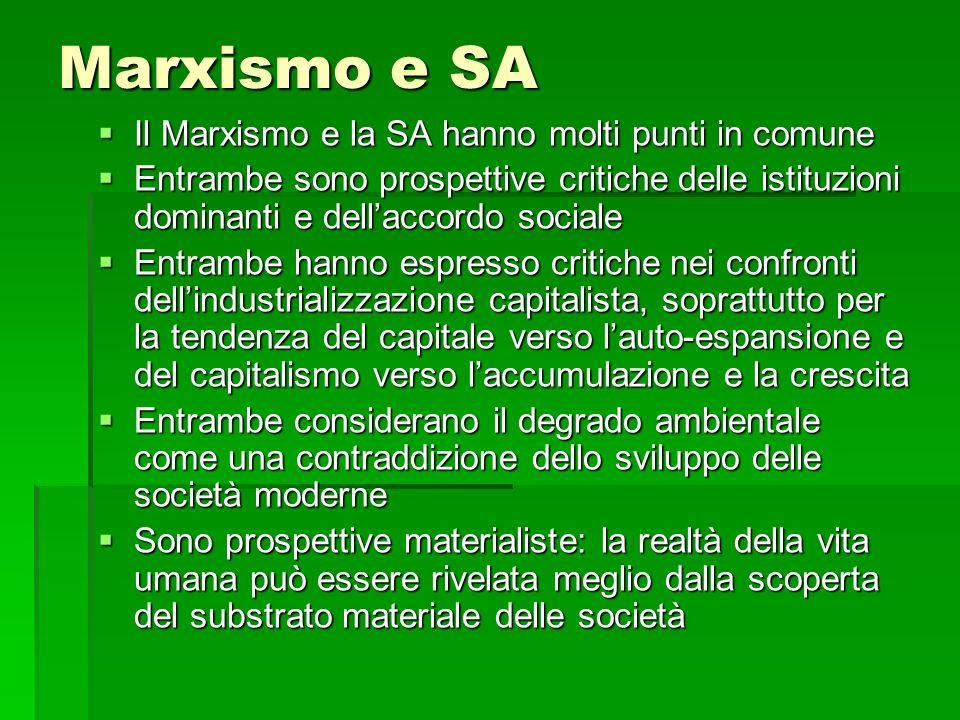 Marxismo e SA Il Marxismo e la SA hanno molti punti in comune
