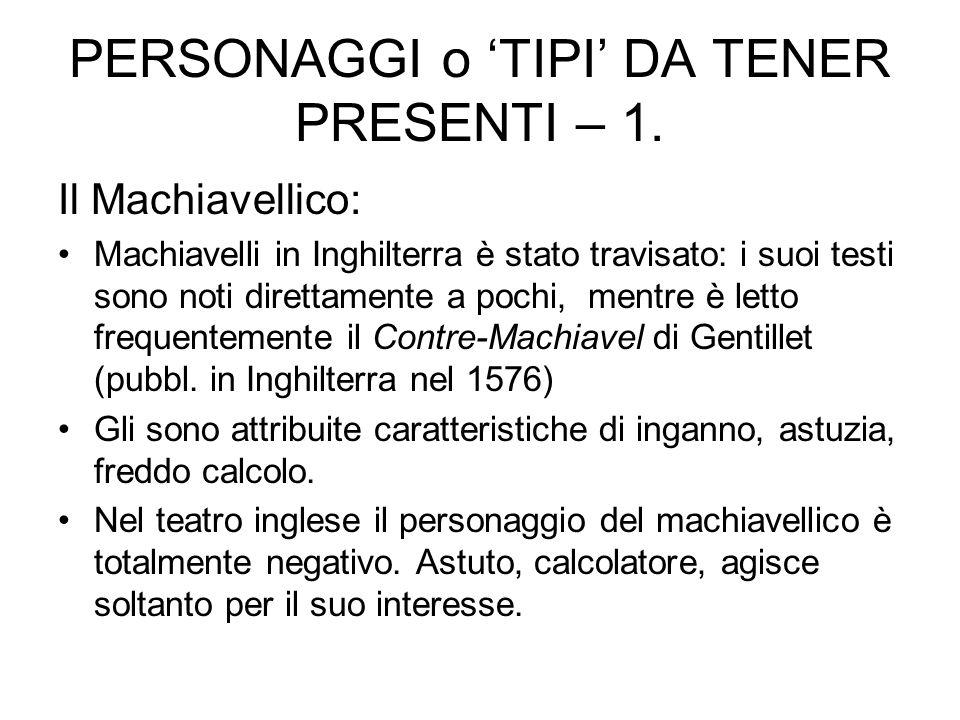 PERSONAGGI o 'TIPI' DA TENER PRESENTI – 1.