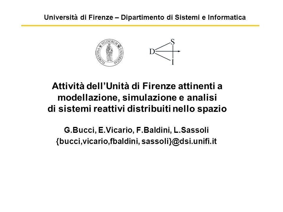 Università di Firenze – Dipartimento di Sistemi e Informatica