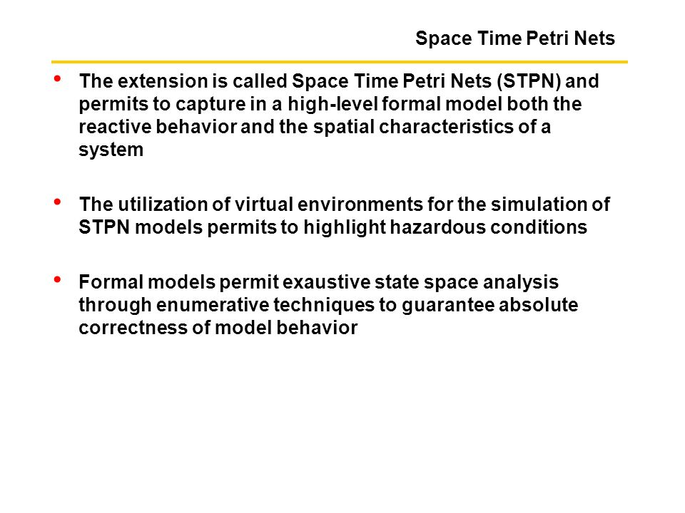 Space Time Petri Nets