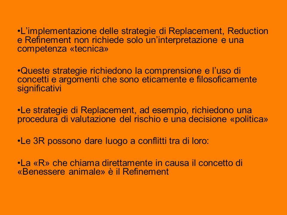 L'implementazione delle strategie di Replacement, Reduction e Refinement non richiede solo un'interpretazione e una competenza «tecnica»