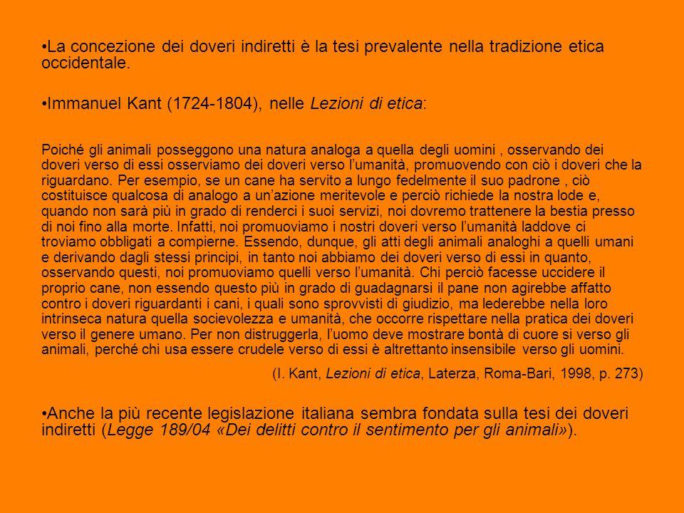 Immanuel Kant (1724-1804), nelle Lezioni di etica: