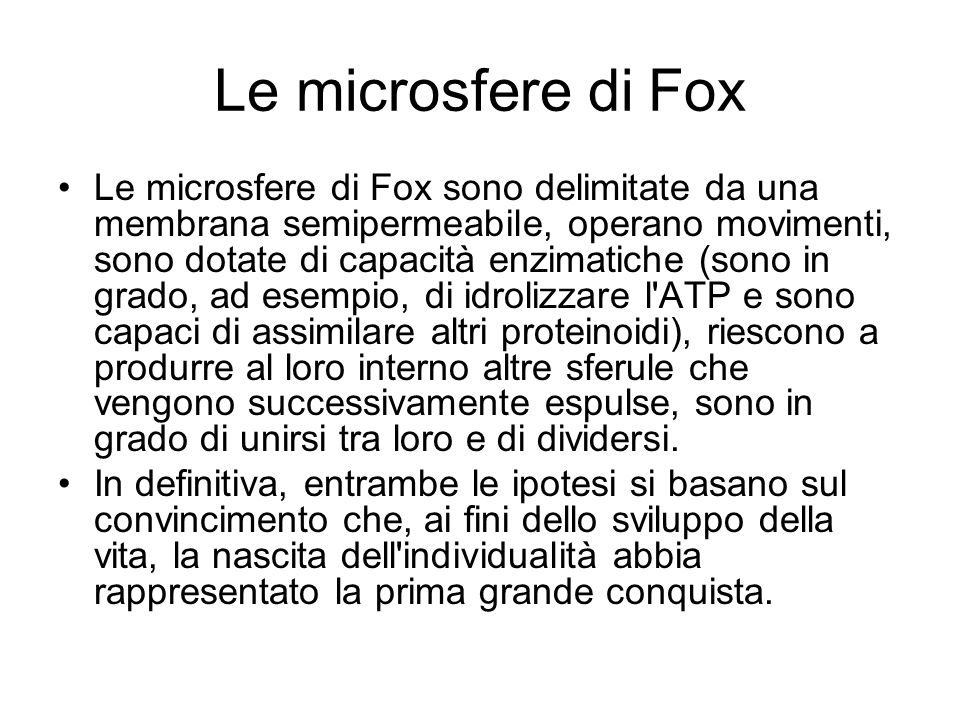 Le microsfere di Fox