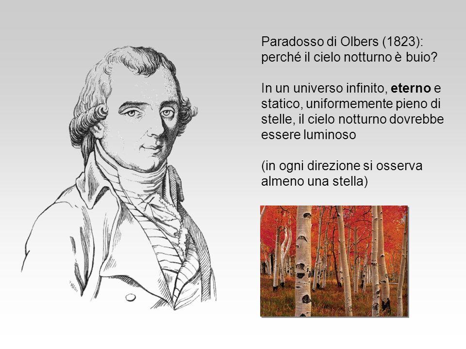 Paradosso di Olbers (1823): perché il cielo notturno è buio