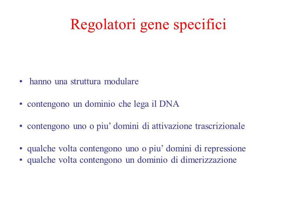 Regolatori gene specifici