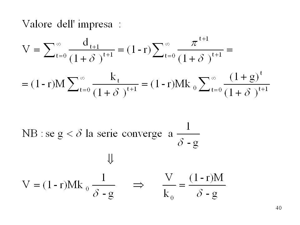 la serie geometrica sommatoria da 0 a infinito di xt, con 0<x<1, converge a 1/(1-x)