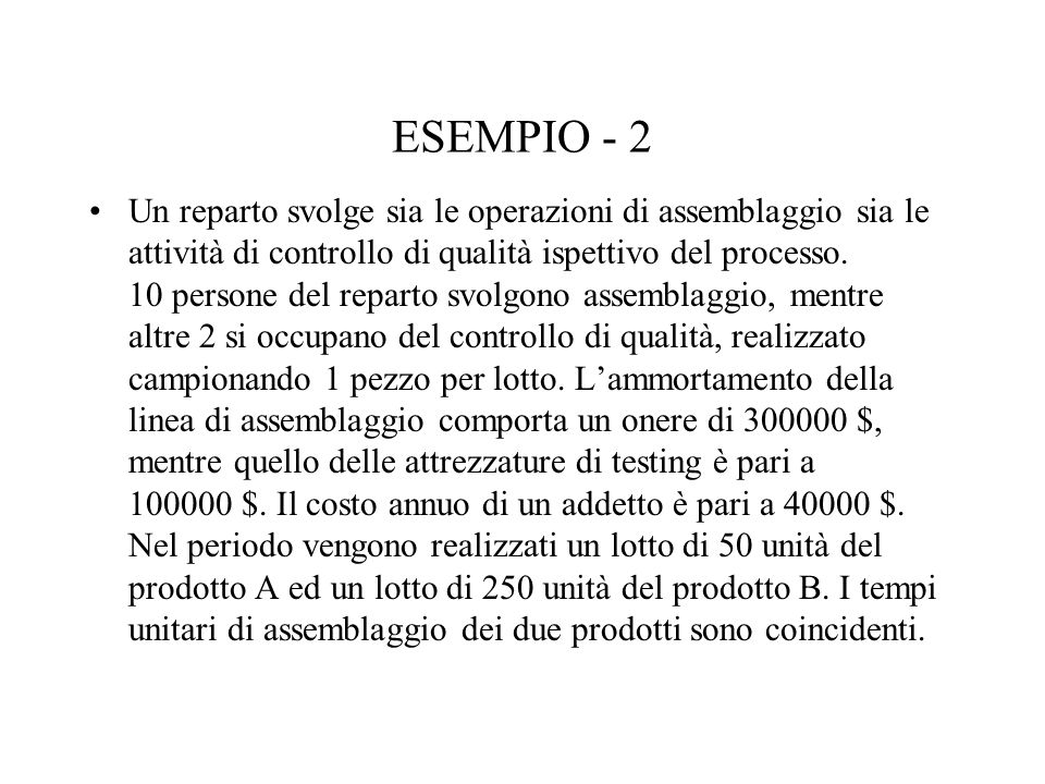 ESEMPIO - 2